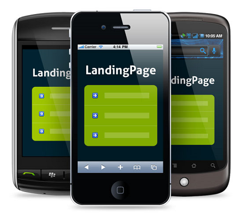 landing page cell phones
