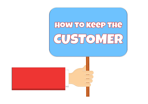 the value of customer retention sign