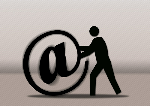 silhouette delivering email