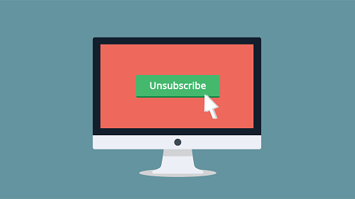 unsubscribe, email