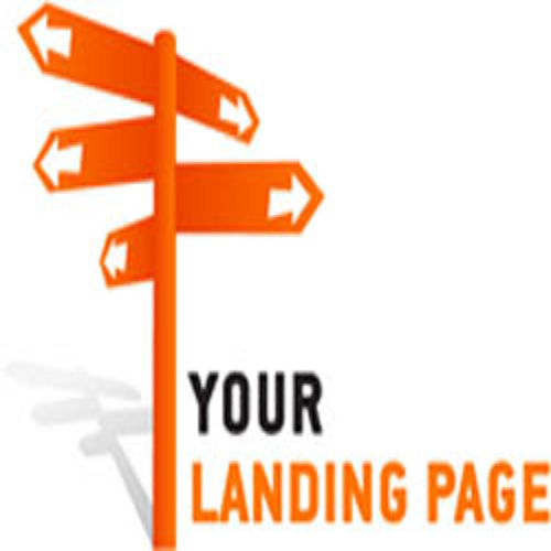 Landing page road sign