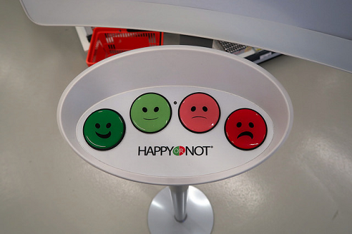 Satisfaction rating faces