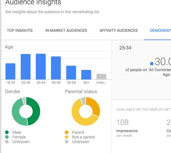 Google Adwords Audience Insights