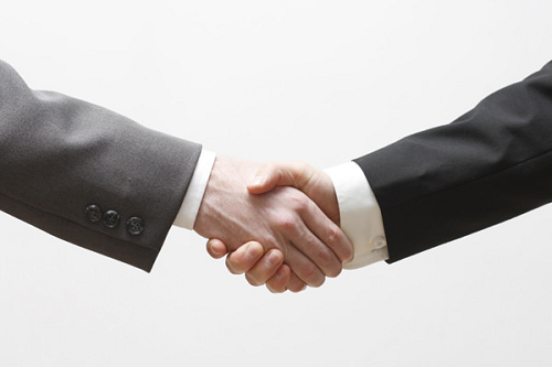 referral partners business handshake